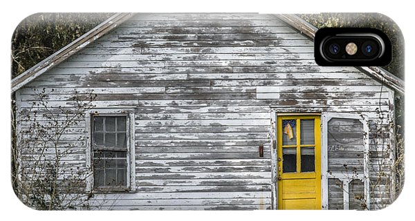 Defiant Yellow Door - Square IPhone Case