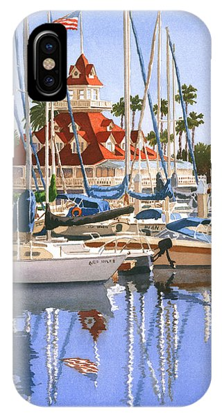 Del Coronado Boathouse IPhone Case