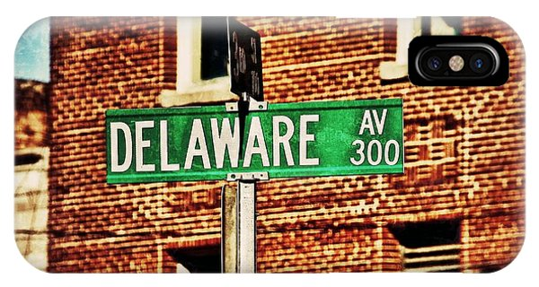 Delaware Avenue Street Sign IPhone Case