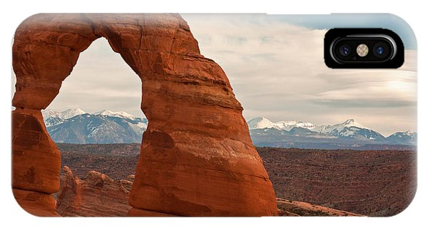 Delicate Arch And The La Sal Mountains IPhone Case