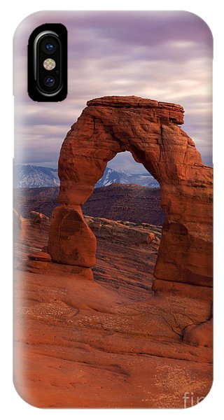 Arches National Park iPhone Case - Delicate Arch Dusk by Mike Dawson