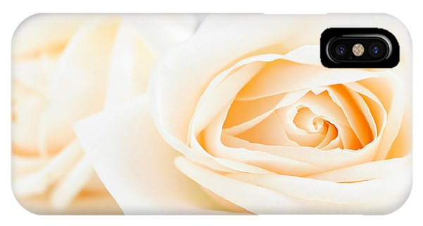 Rose iPhone X / XS Case - Delicate Beige Roses by Elena Elisseeva