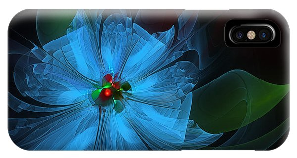 Delicate Blue Flower-fractal Art IPhone Case