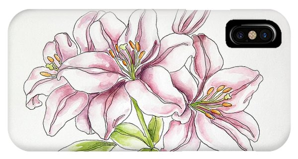 Delicate Lilies IPhone Case