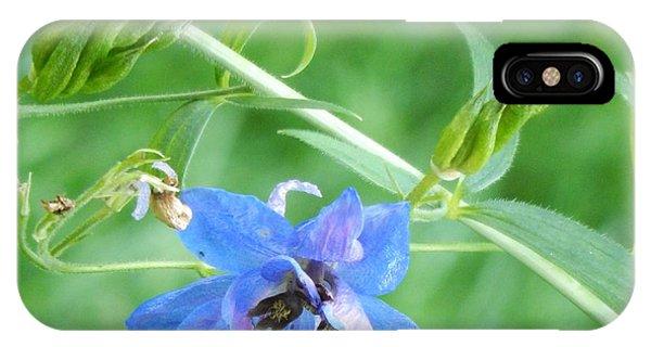 Delphinium Blossom IPhone Case
