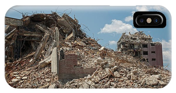 Demolition Of Detroit Housing Towers Phone Case by Jim West