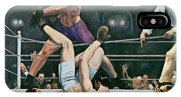 Manly iPhone Case - Dempsey V Firpo In New York City by George Wesley Bellows
