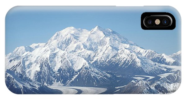 IPhone Case featuring the photograph Denali From The Air by Barbara Von Pagel