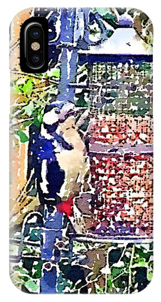 Dendrocopos Major 'great Spotted Woodpecker' IPhone Case