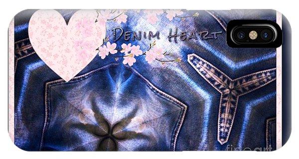 Denim Heart IPhone Case