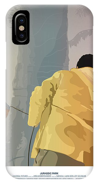 Dennis And The Dilophosaurus - Jurassic Park Poster IPhone Case