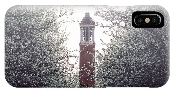 Denny Chimes Foggy Blossoms IPhone Case