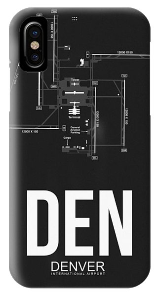 Travel iPhone Case - Denver Airport Poster 1 by Naxart Studio