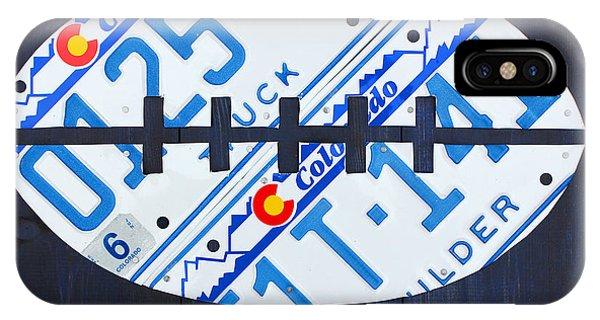 Denver Broncos Football License Plate Art IPhone Case