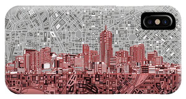 Denver Skyline Abstract 2 IPhone Case