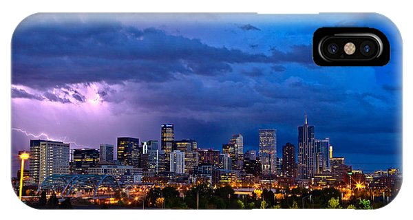 City Scenes iPhone Case - Denver Skyline by John K Sampson