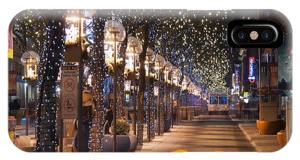 Denver's 16th Street Mall At Christmas IPhone Case