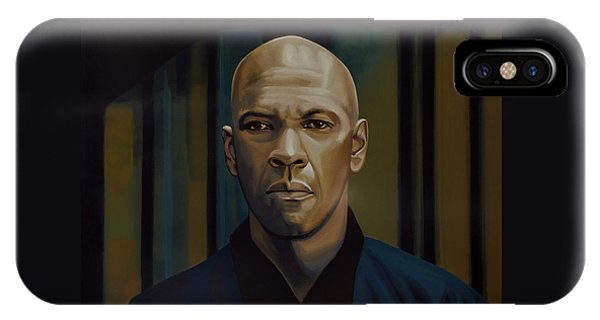 People iPhone Case - Denzel Washington In The Equalizer Painting by Paul Meijering