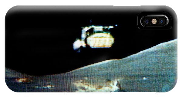 Departure iPhone Case - Departure Of Apollo 17 From Moon by Nasa/science Photo Library