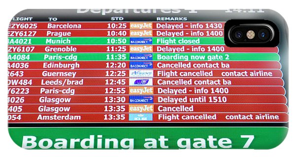 Departure iPhone Case - Departures Board by Adam Hart-davis/science Photo Library