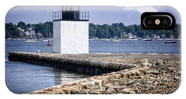 Navigation iPhone Case - Derby Wharf Light by Joan Carroll