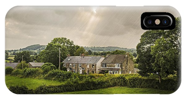 English Countryside iPhone Case - Derbyshire Cottages by Amanda Elwell
