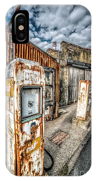 Gas Station iPhone Case - Derelict Gas Station by Adrian Evans