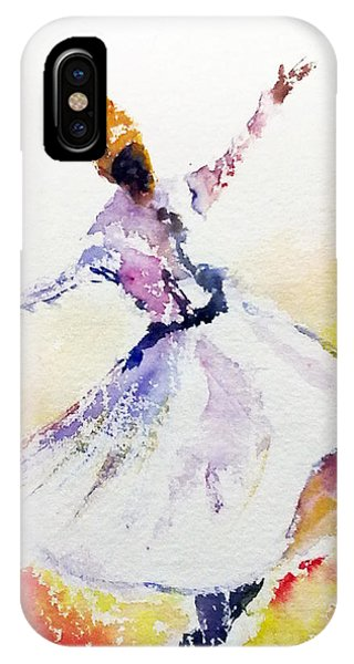 Whirling Sufi Dervish IPhone Case