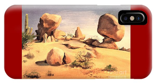 Desert Balanced Rock IPhone Case