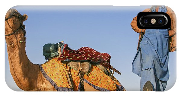 Desert Dance Of The Dromedary And The Camel Driver IPhone Case