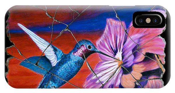 Bogdanoff iPhone Case - Desert Hummingbird by Steve Bogdanoff
