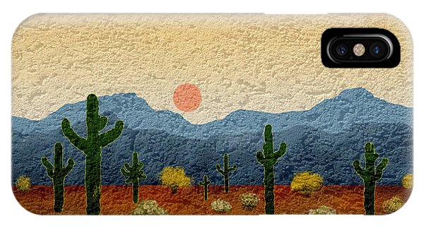 Southwest iPhone Case - Desert Impressions by Gordon Beck