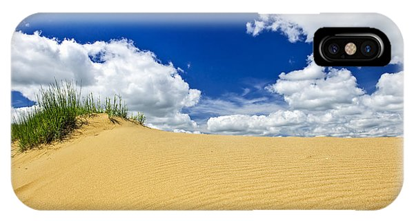 Sand iPhone Case - Desert Landscape In Manitoba by Elena Elisseeva