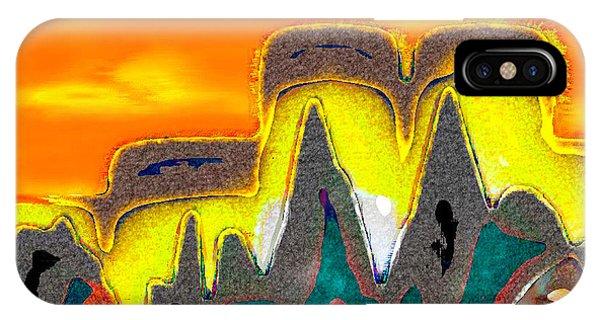 Desert Mountain Abstract IPhone Case