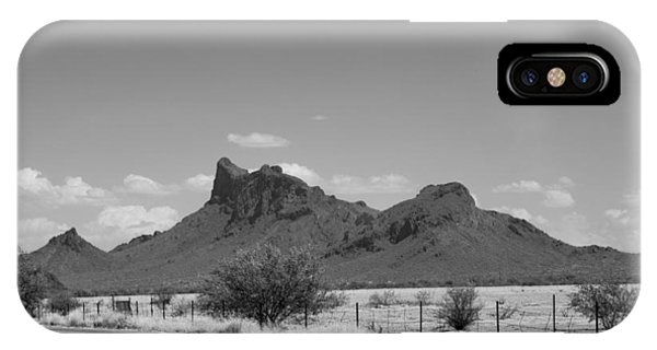 Desert Mountains Black And White IPhone Case