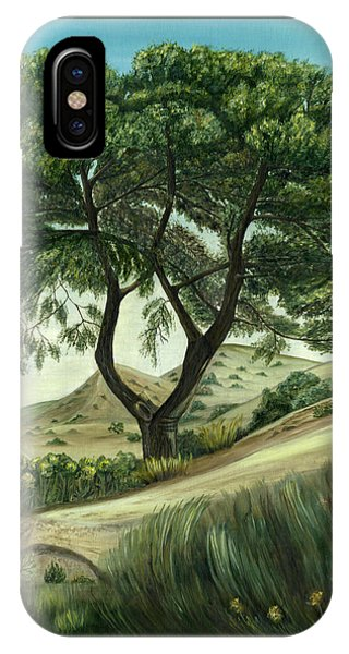 IPhone Case featuring the painting Desert Pine by Angeles M Pomata