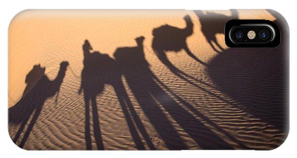 Caravan iPhone Case - Desert Shadows by Delphimages Photo Creations