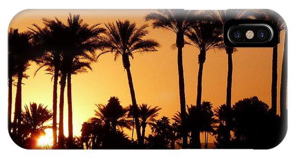 Desert Silhouette Sunrise Phone Case by Deborah Smolinske