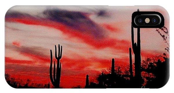 Desert Sunset Northern Lights Version 3 IPhone Case