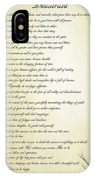 Desiderata 2 IPhone Case