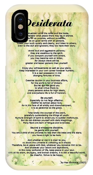 Poetry iPhone Case - Desiderata 5 - Words Of Wisdom by Sharon Cummings
