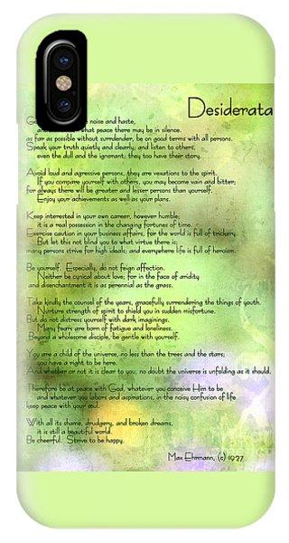 Desiderata - Inspirational Poem IPhone Case