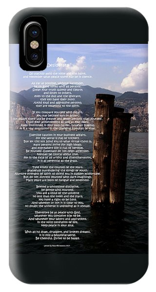 Desiderata On Lake View IPhone Case