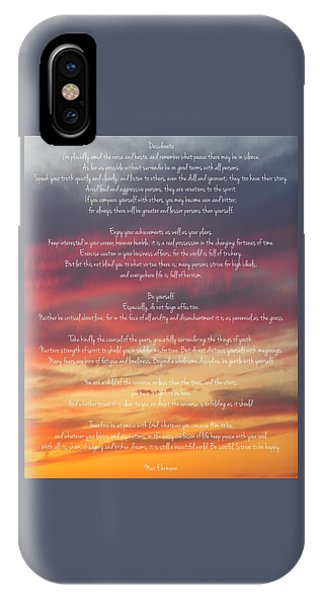Desiderata Sky 2 IPhone Case