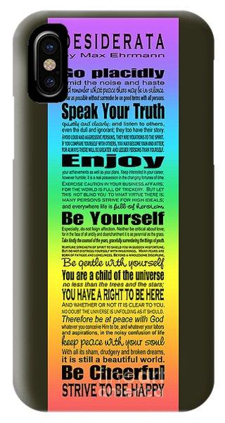 Desiderata - Subway Style - Rainbow IPhone Case