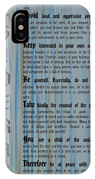 Desiderata 14 IPhone Case