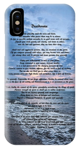 Desiderata Wisdom IPhone Case