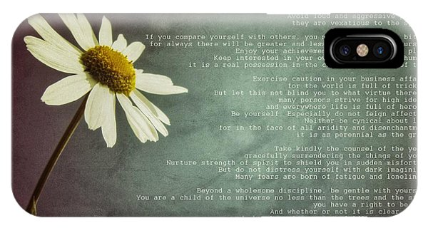 Desiderata With Daisy IPhone Case