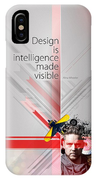 Layered iPhone Case - Design Is Intelligence by Samuel Whitton