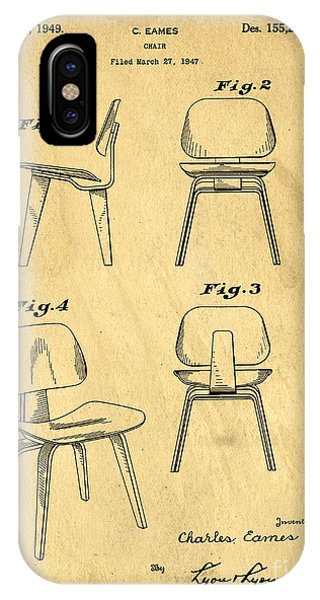 Patent Office iPhone Case - Designs For A Eames Chair by Edward Fielding
